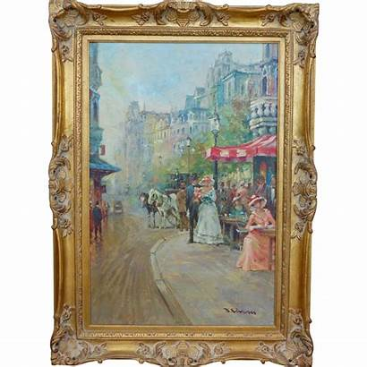 French Impressionist Street Artist Paris Oil Listed