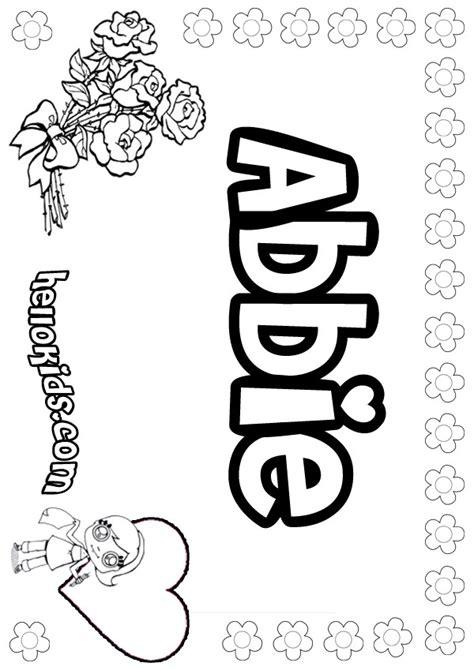 abbie coloring pages hellokidscom