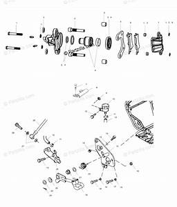 Polaris Atv 2002 Oem Parts Diagram For Rear Brake   Ab  Ac