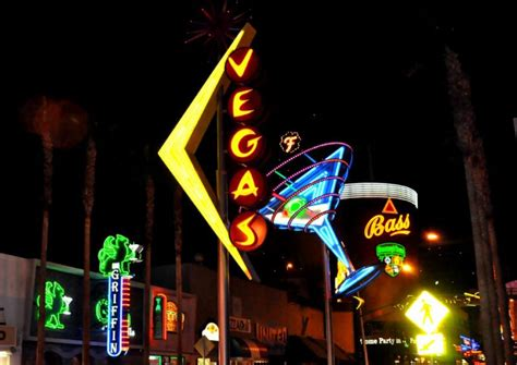 neon lights at fremont in downtown las vegas by