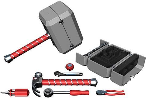 la caja de herramientas mjolnir el martillo de thor no