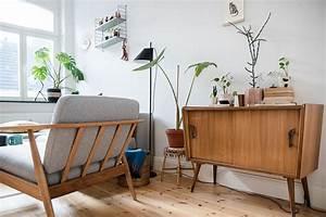 Vintage Mbel Wohnzimmer Trendy Pflanze Im Weien Topf Und