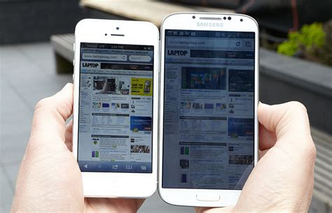 galaxy s4 vs iphone 5s samsung galaxy s4 vs iphone 5s