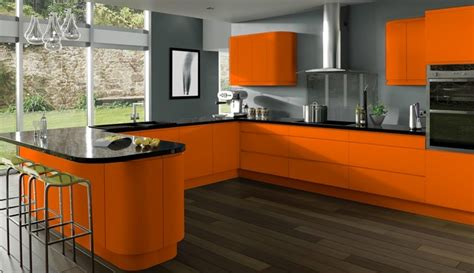 cuisine orange et gris déco cuisine gris et orange