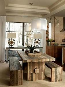 24 totally inviting rustic dining room designs page 3 of 5 With rustic modern dining room ideas