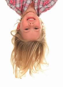 Upside, Down, Child, Studio, Shot, Little, Girls, Stock, Photos