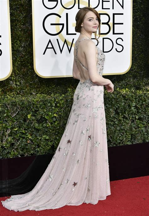 Emma Stone Golden Globe Awards In Beverly Hills 0108 2017