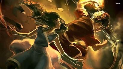 Airbender Avatar Last Wallpapers Aang Zuko Toph