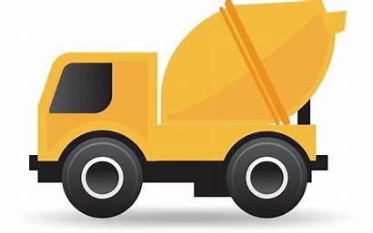 Cement Mixer Clipart Truck Concrete Clip Silhouette