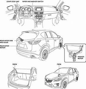 Mazda Cx-5 Service  U0026 Repair Manual - Rear Wiper System