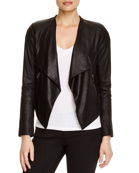 draped leather jacket bb dakota siena draped leather jacket bloomingdale s