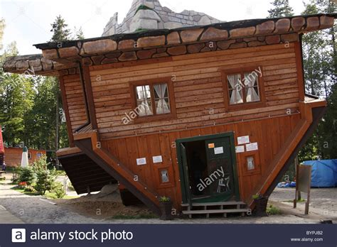 Upside Down House In Open-air Museum In Szymbark, Kashubia