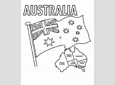 Australia Flag Coloring Page Coloring Home