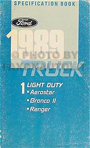 1989 Ford Engine  Emissions Diagnosis Manual Original