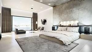 Concrete, Finished, Modern, Bedroom
