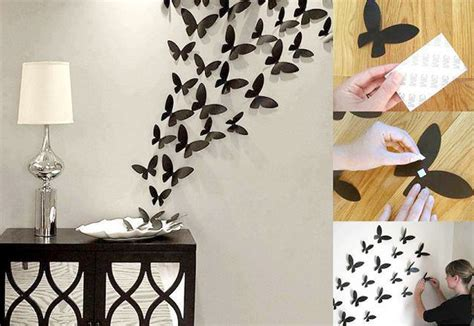 paper butterfly wall decor cool cheap but cool diy wall ideas for your walls
