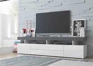 Meuble Tele Gris : meuble tv ~ Teatrodelosmanantiales.com Idées de Décoration