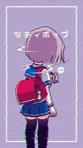 Anime Vaporwave iPhone Wallpaper ID