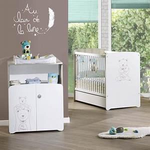 pack promo ensemble lit bebe 60x120 cm commode basile With déco chambre bébé pas cher avec livraison roses Á domicile