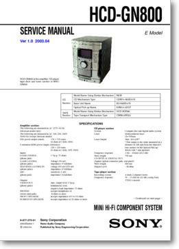 diagrama manual sony hcd gn800