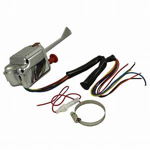 Universal Street Hot Rod Chrome Turn Signal Switch For Buick Ford Gm 12v