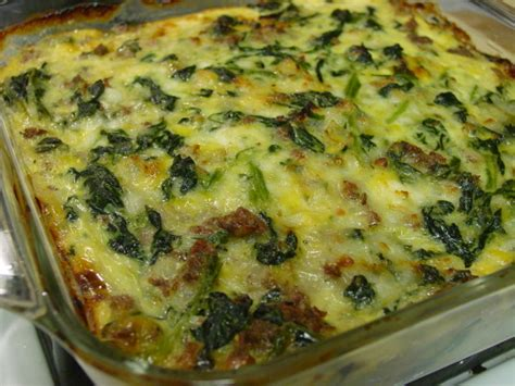 spinach casserole with cottage cheese vegetarian spinach cheese and sausage casserole recipe