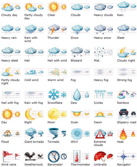 weather icons iphone large weather icons related to various weather condition