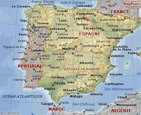 Carte D Espagne Avec Villes by Carte Geographique D Espagne Plan De Barcelone Carte D