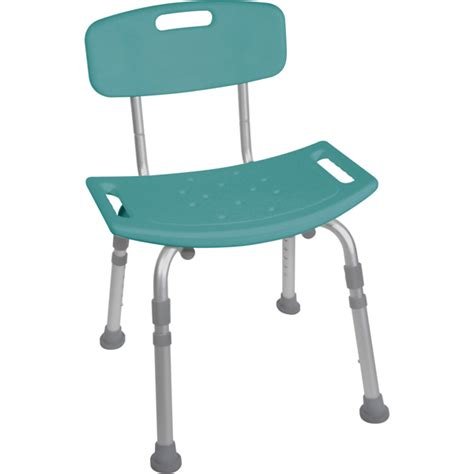 bathroom safety shower tub bench chair with back teal