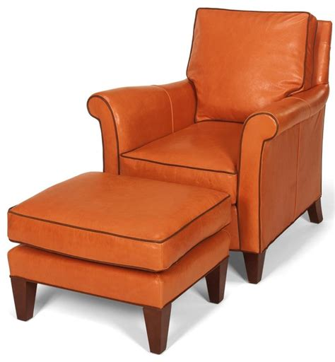 accent chair wood leather removable leg traditional