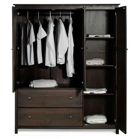 Bedroom Set With Wardrobe Closet by Espresso Wood Finish Bedroom Wardrobe Armoire Cabinet