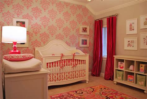 Nursery Room : Elegant And Bold Pink Nursery-project Nursery