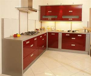 Red Painted Kitchen Cabinets | KITCHENTODAY
