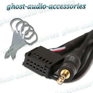ford 6000 cd aux in input adapter for ipod mp3 with radio release pins ebay