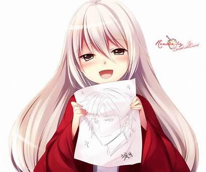 Fille Cheveux Manga Blanc Dessin Rouge Garcon