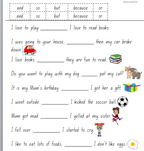grammar worksheets conjunctions 3 flashcards
