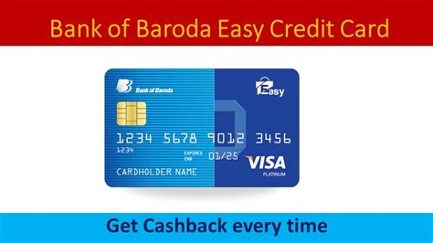 Powerful and easy to use. Bank of Baroda Easy Credit Card Full Details - YouTube