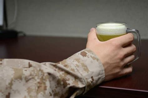 military  americas heaviest drinking profession