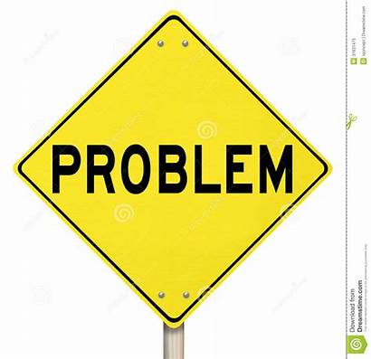 Problem Word Clipart Sign Trouble Warning Caution