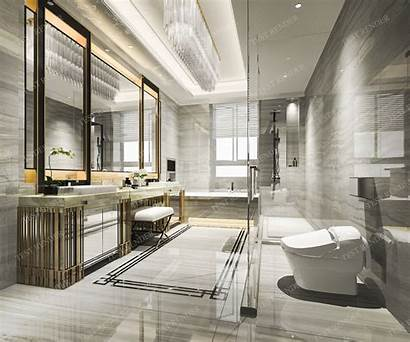 Luxury Marble Toilet Bathroom Interior Models