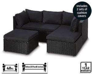 corner wicker outdoor lounge pc setting  aldi