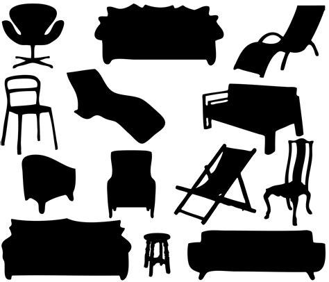 furniture silhouettes  stock photo public domain
