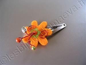 Orange Et Vert Dunkerque : barrette fantaisie enfant orange et vert fleur feutre ~ Dailycaller-alerts.com Idées de Décoration