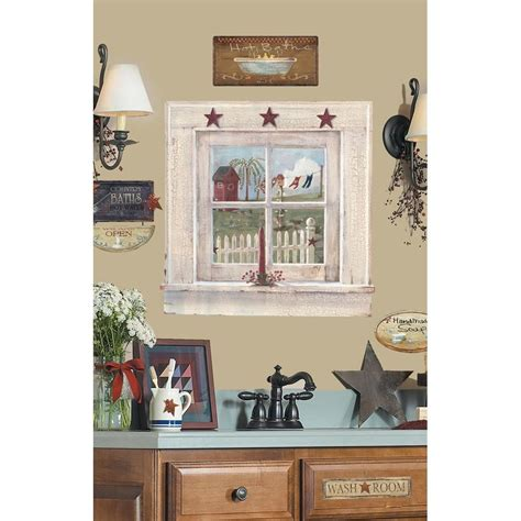 country bathroom decor outhouse window signs giant wall stickers decals country bathroom mural decor ebay