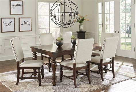 Sanctuary Cherry Dining Room Set, Prod89011, Progressive