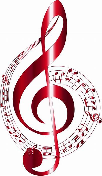 Notes Background Musical Typography Vermilion Clipart