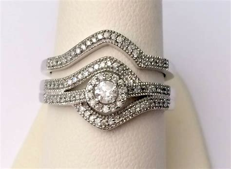 white gold halo antique vintage style