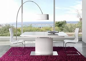 Table Ronde Extensible Pied Central : table salle a manger blanche pas cher digpres ~ Teatrodelosmanantiales.com Idées de Décoration