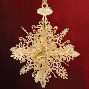 2011 baldwin brass radiant snowflake ornament silver