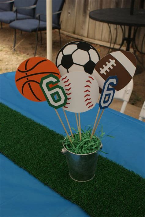Sports Party Centerpiece Sports Theme Baby By